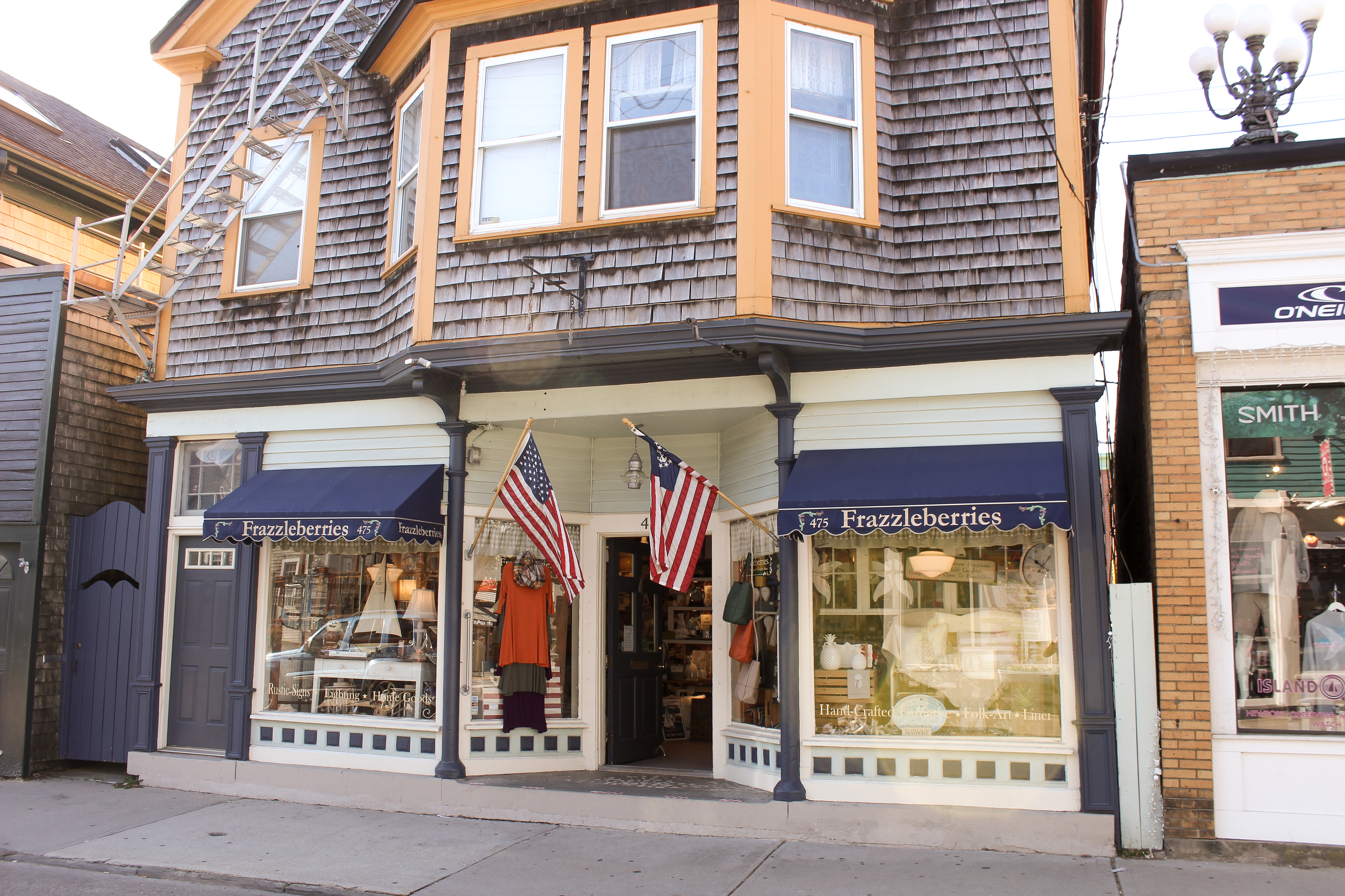 Thames Street winter Newport, Rhode Island